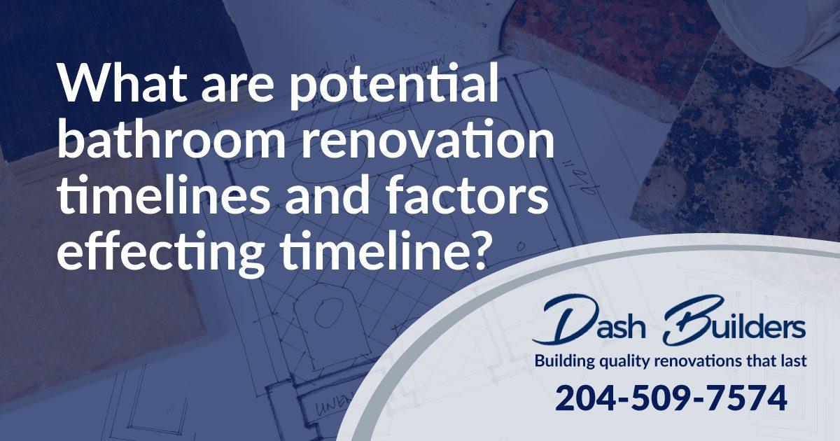 Bathroom Renovation Timelines   Winnipeg Bathroom Renovations